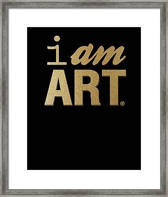 I Am Art- Gold Framed Print by Linda Woods