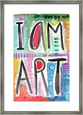 I Am Art Framed Print by Linda Woods