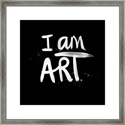 I Am Art- Painted Framed Print by Linda Woods