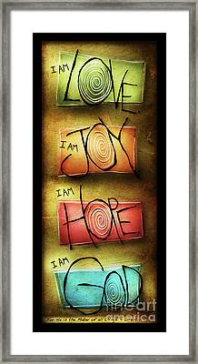 I Am God Framed Print by Shevon Johnson