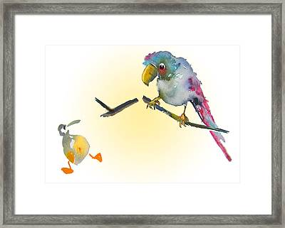 I Am Leaving You Framed Print by Miki De Goodaboom