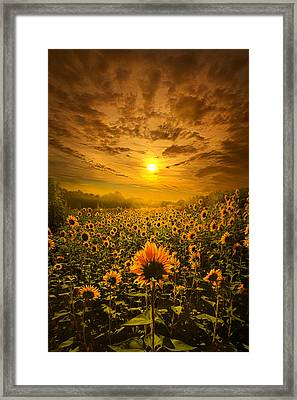 I Believe In New Beginnings Framed Print by Phil Koch