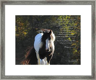 I Can Do All Things Framed Print by Terry Kirkland Cook