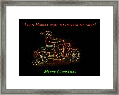 I Can Harley Wait Framed Print by Jon Berghoff