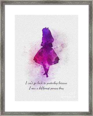 I Can't Go Back To Yesterday Framed Print by Rebecca Jenkins