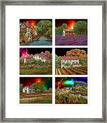 I Colori Del Cielo Framed Print by Guido Borelli