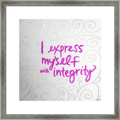 I Express Myself With Integrity Framed Print by Tiny Affirmations