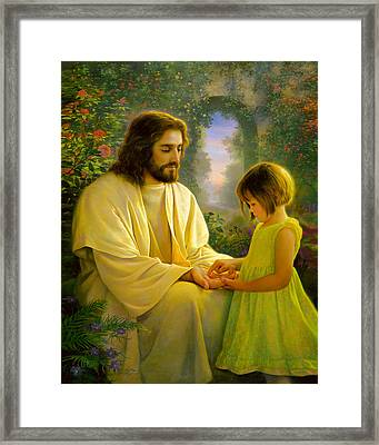 I Feel My Savior's Love Framed Print by Greg Olsen