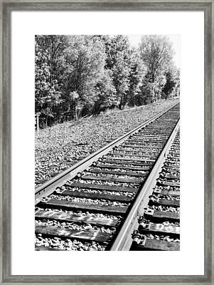 I Hear The Train A' Comin Framed Print by Wendy Wunstell