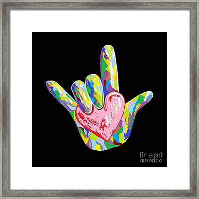 I Heart You Framed Print by Eloise Schneider