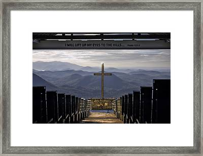 I Lift Up My Eyes To The Hills Framed Print by Eduard Moldoveanu