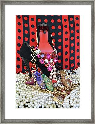I Love My Shoes 2 Framed Print by To-Tam Gerwe