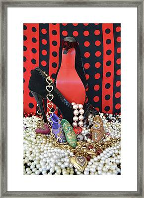 I Love My Shoes Framed Print by To-Tam Gerwe