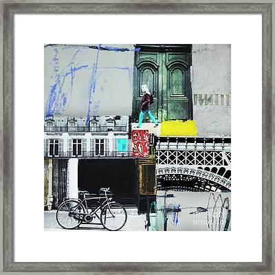 I Love Paris Framed Print by Elena Nosyreva
