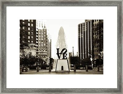 I Love Philadelphia Framed Print by Bill Cannon