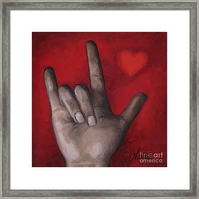 I Love You Framed Print by Jindra Noewi
