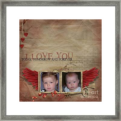 I Love You Framed Print by Joanne Kocwin
