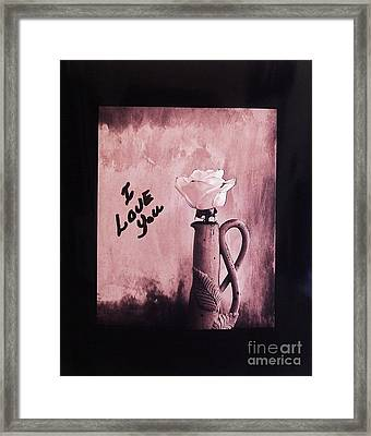 I Love You Framed Print by Marsha Heiken