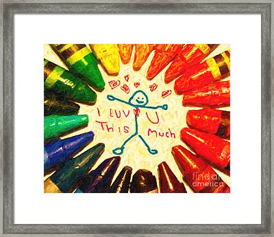 I Luv U This Much Framed Print by Wingsdomain Art and Photography