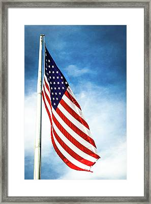 I Pledge Allegiance Framed Print by Shelby  Young