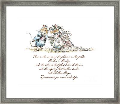 I Pronounce You Mouse And Wife Framed Print by Brambly Hedge