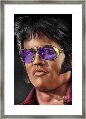 I Remember Elvis Framed Print by Reggie Duffie