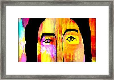 I See But I Cannot Speak Framed Print by Fania Simon