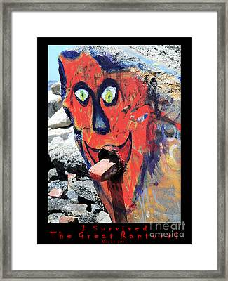 I Survived The Great Rapture . V2 . May 21 2011 Framed Print by Wingsdomain Art and Photography