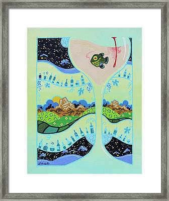 I Take My White Wine With A Piranha, That Way People Know Right Off The Bat That I Don't F-ck Around Framed Print by Dan Keough