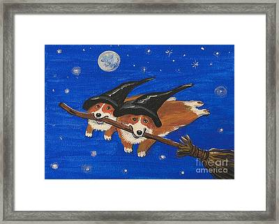 I Told You This Stick Can Fly Framed Print by Margaryta Yermolayeva