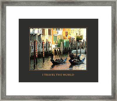I Travel The World Venice Framed Print by Donna Corless