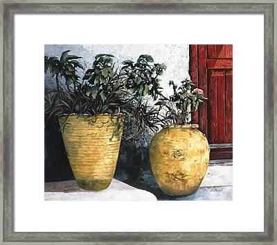 I Vasi Framed Print by Guido Borelli