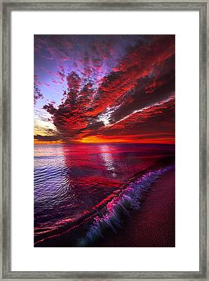 I Wake As A Child To See The World Begin Framed Print by Phil Koch