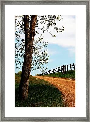 I Walk The Gravel Road Framed Print by Marilyn Hunt
