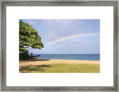I Want To Be There Too - North Shore Oahu Hawaii Framed Print by Brian Harig