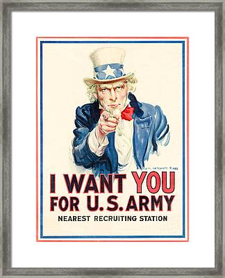 I Want You Framed Print by Delphimages Photo Creations