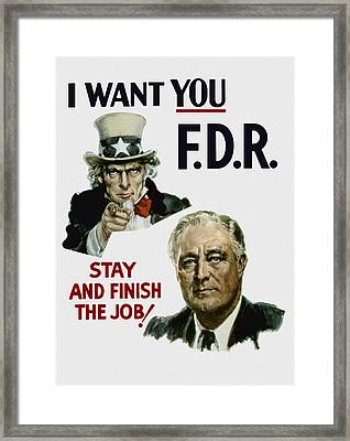 I Want You Fdr  Framed Print by War Is Hell Store