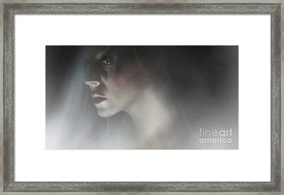 I Will Be Silent Framed Print by Spokenin RED