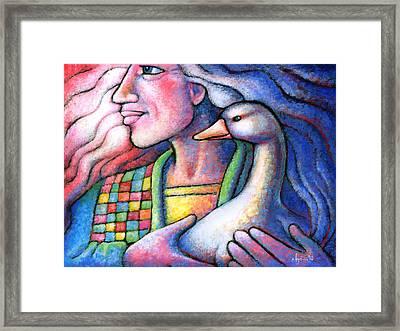 I Will Keep You Safe Always Framed Print by Angela Treat Lyon