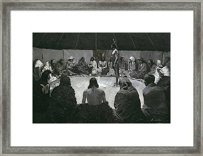 I Will Tell The White Man Framed Print by Frederic Remington