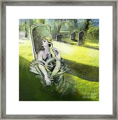 I Wish You Were Here Framed Print by Miki De Goodaboom