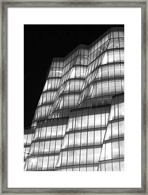 Iac Building Night Time  Framed Print by Christopher Kirby