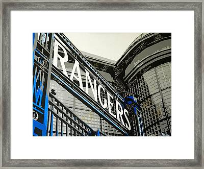 Ibrox Gates Framed Print by Scott Strachan