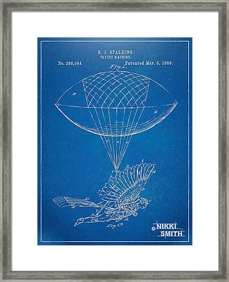 Icarus Airborn Patent Artwork Framed Print by Nikki Marie Smith