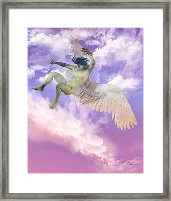 Icarus Greeck Myth Framed Print by Joaquin Abella