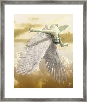 Icarus Myth Framed Print by Quim Abella