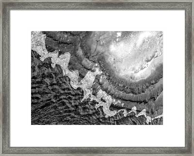 Ice And Water On Minnehaha Creek  Framed Print by Jim Hughes