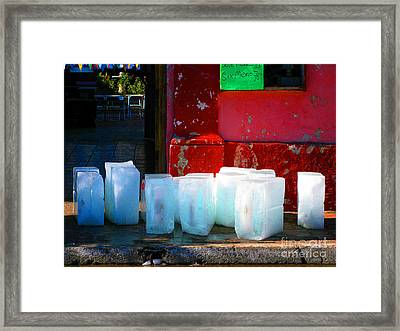 Ice Blocks By Michael Fitzpatrick Framed Print by Mexicolors Art Photography