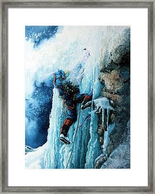 Ice Climb Framed Print by Hanne Lore Koehler