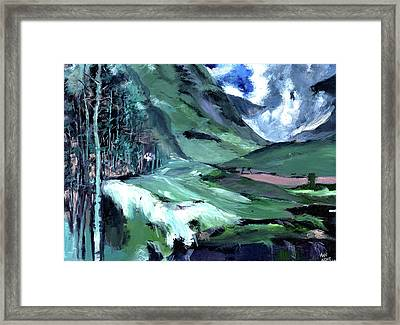 Ice Clouds Mountains And Me Framed Print by Anil Nene